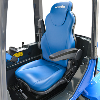 Ergonomic full adjustable suspension seat