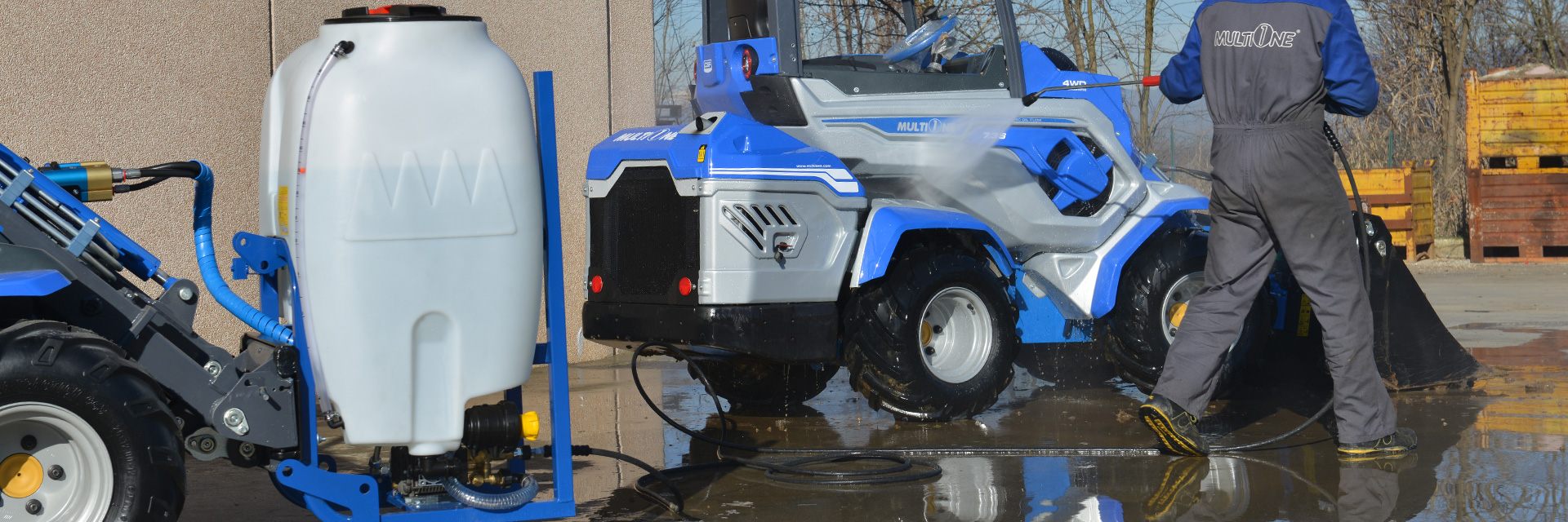 Multione-high-pressure-washer for mini loader