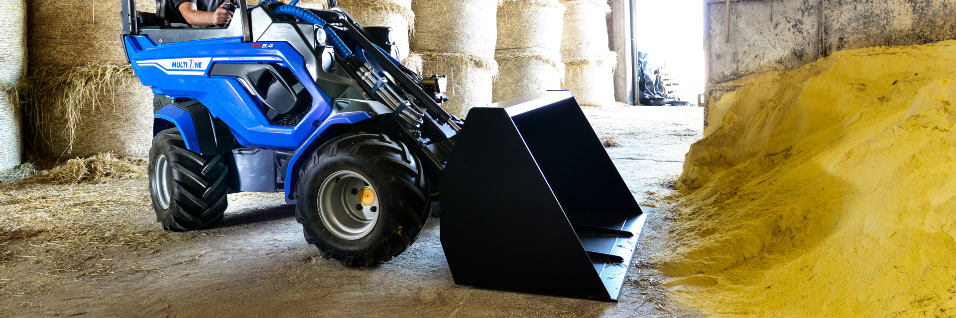 Multione-high-volume-bucket for mini loader