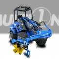 Multione-power-plough for mini loaders