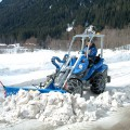 Multione-snow-blade for mini excavator