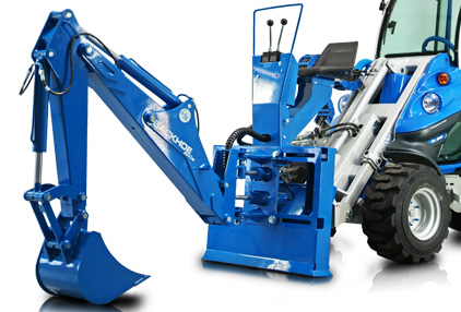 Multione mini backhoe for mini loader