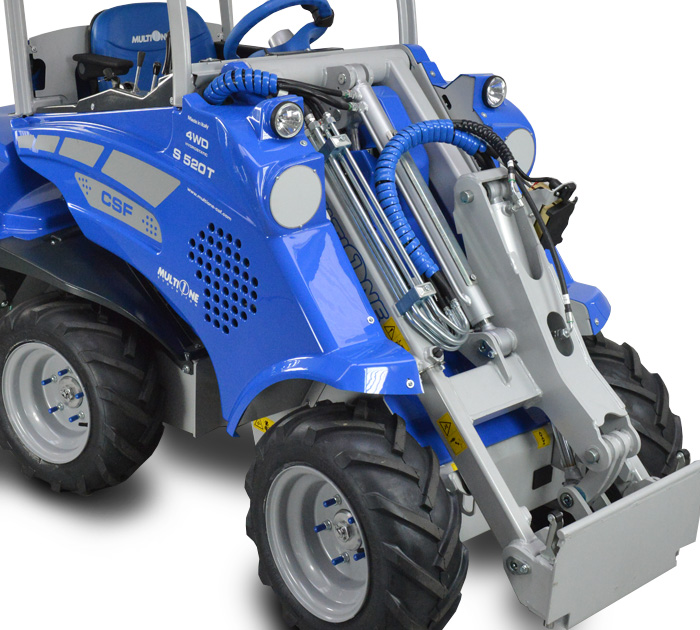 Compact Articulated Mini Loader front
