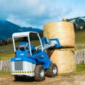 MultiOne mini loader S630 with bale fork