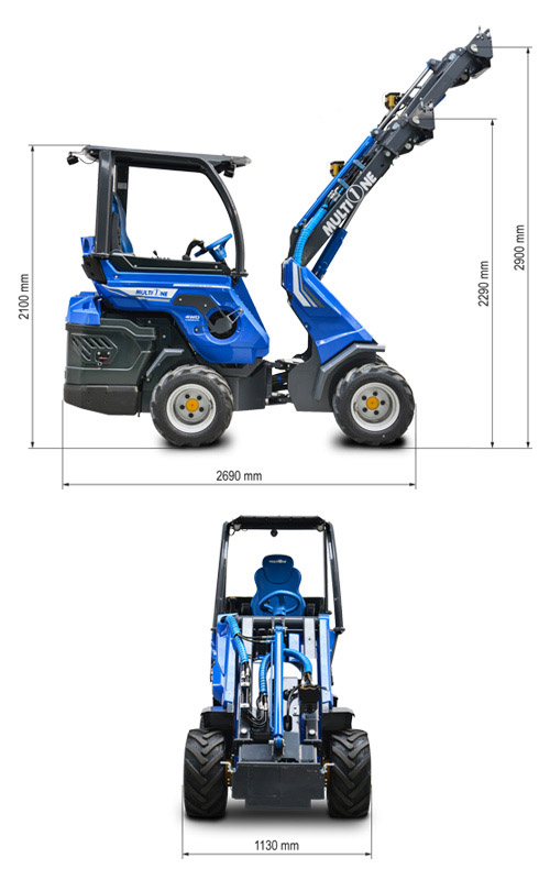 Multione 7.3 SD Mini Articulated Loader Lift Height