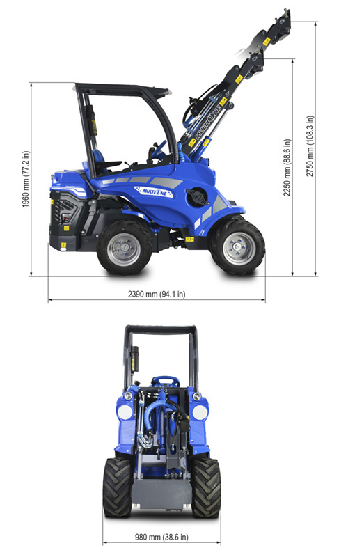 Multione 5.2 Mini Articulated Loader