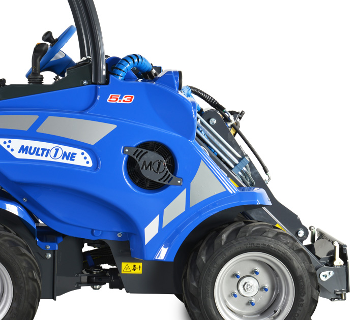 Multione mini articulated loader-right-side