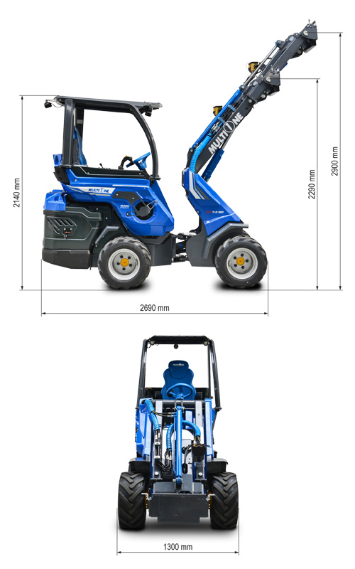 Multione 8.4 SD Mini Articulated Loader Lift Height